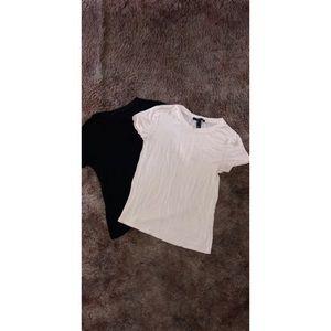 Black and creme shirts